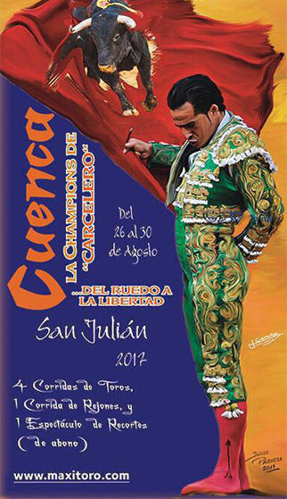 Cartel toros Cuenca 2017